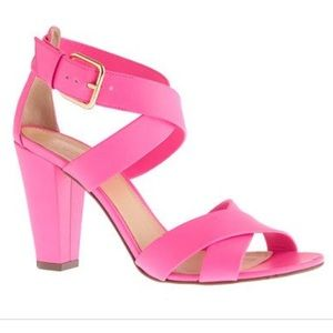 J. Crew neon pink mari sandals